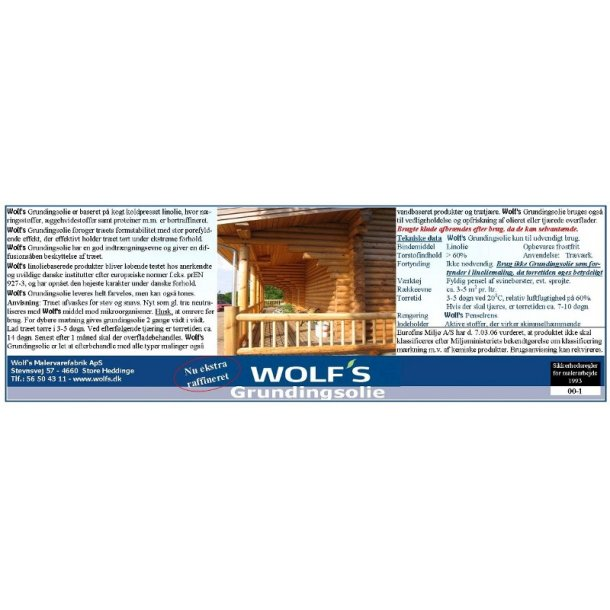 Wolfs Grundingsolie