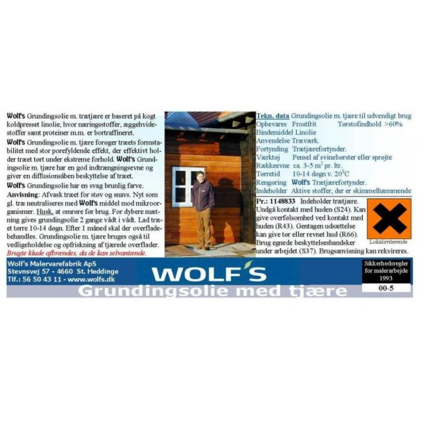 Wolfs Grundingsolie m/ trætjære